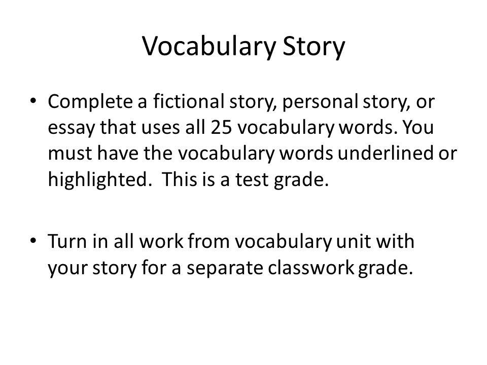 Vocabulary Story