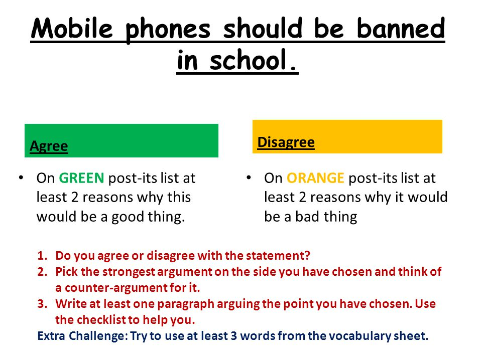 essay on why cell phones should be banned from school 2010-3-8  the use of cell phones in school may take  ya i think ur essay is perfect and i do agree  i strongly think cell phones should be used at school just in.
