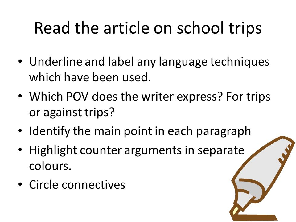 Read the article on school trips