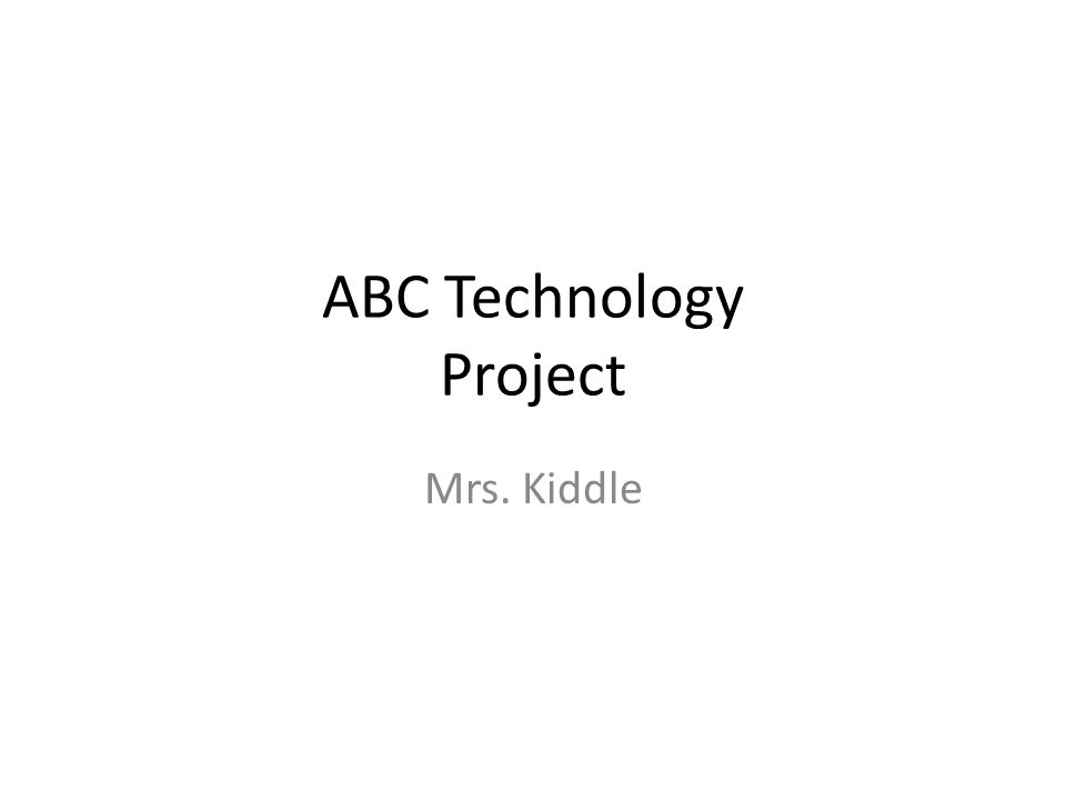 ABC Technology Project
