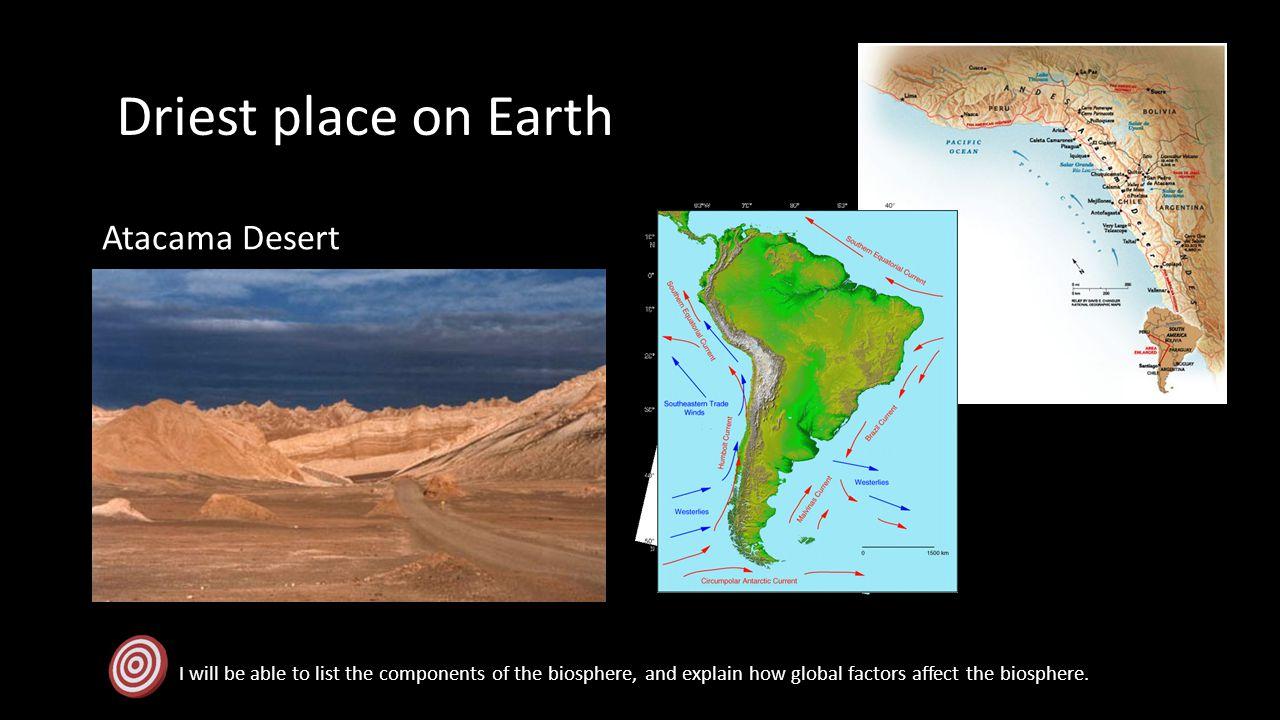 Driest place on Earth Atacama Desert