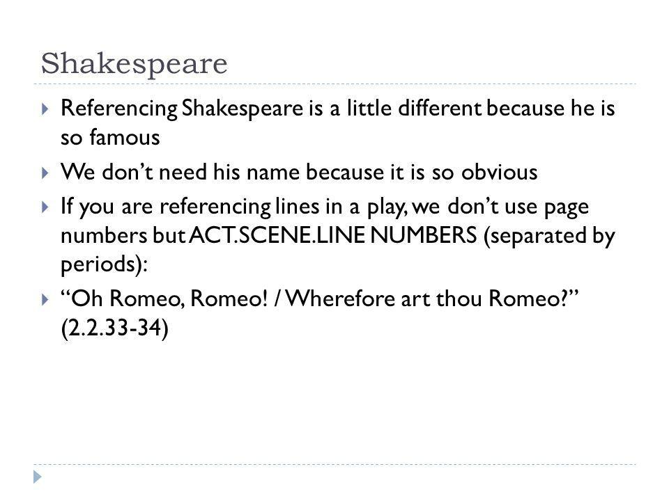 Citaten Shakespeare Play : Citations and works cited lists ppt video online download