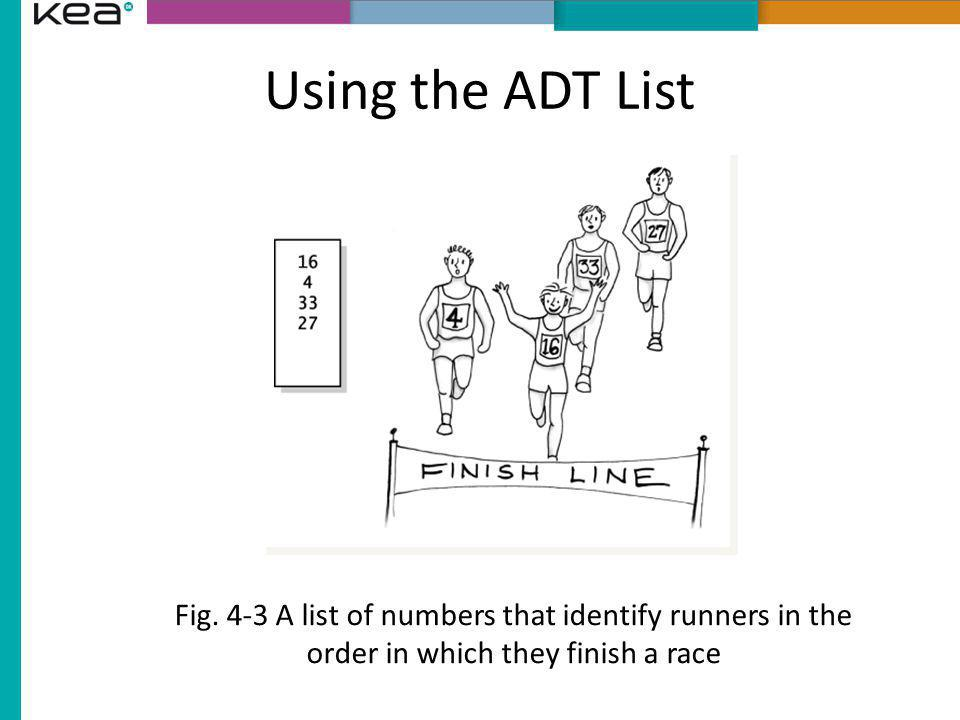 Using the ADT List Fig.