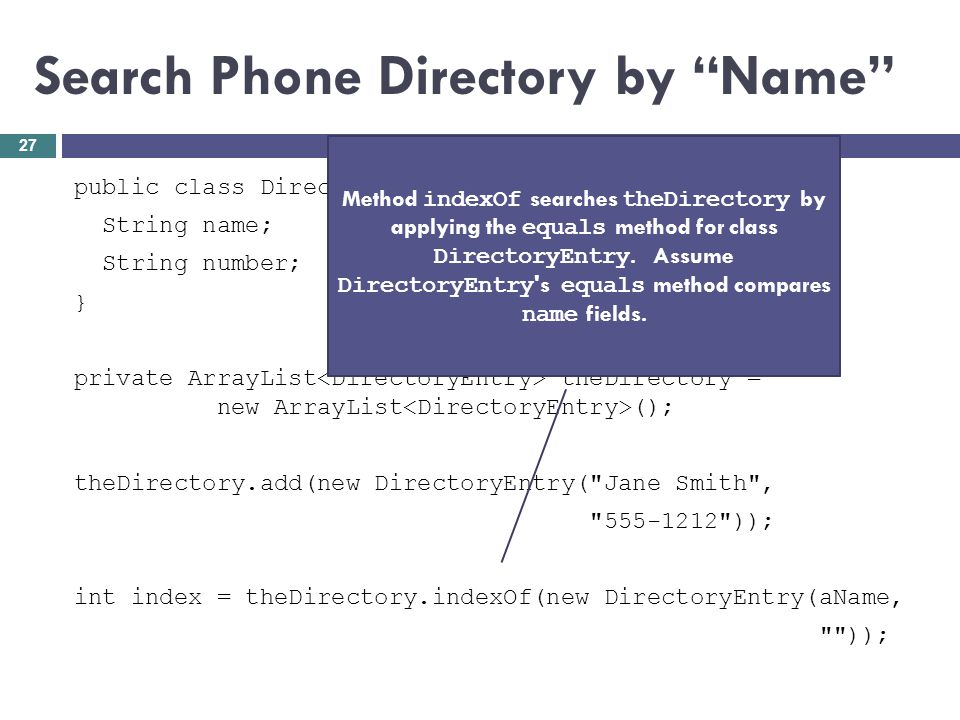Search Phone Directory by Name