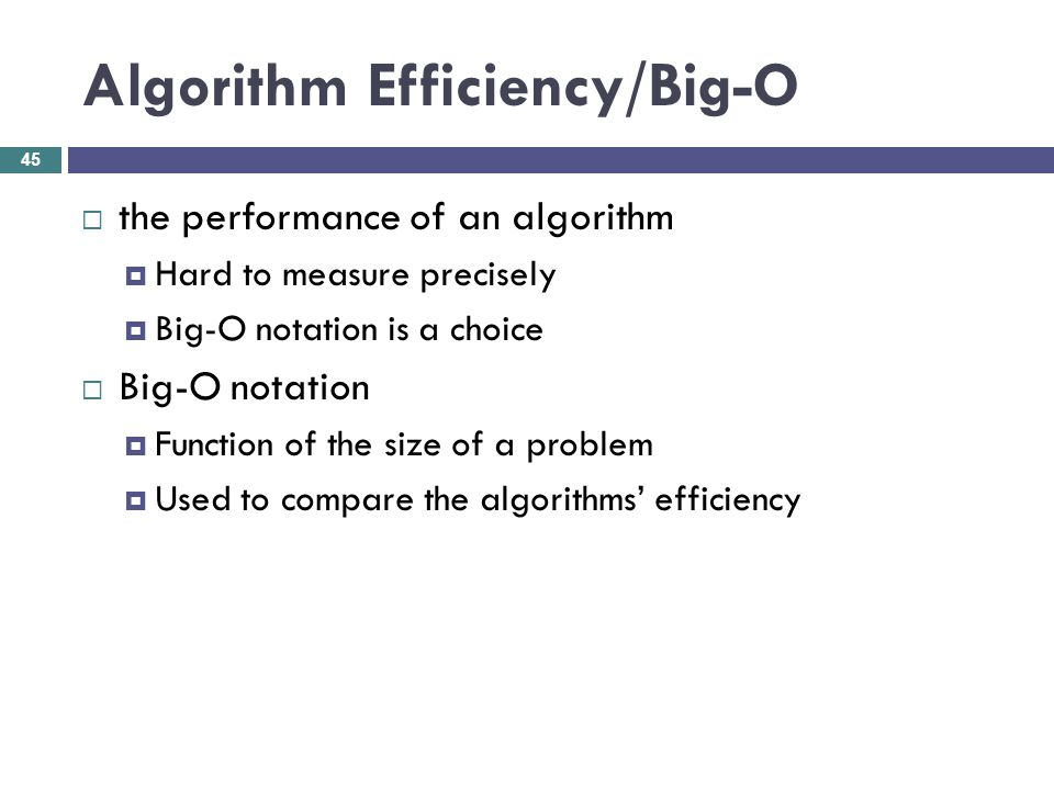 Algorithm Efficiency/Big-O