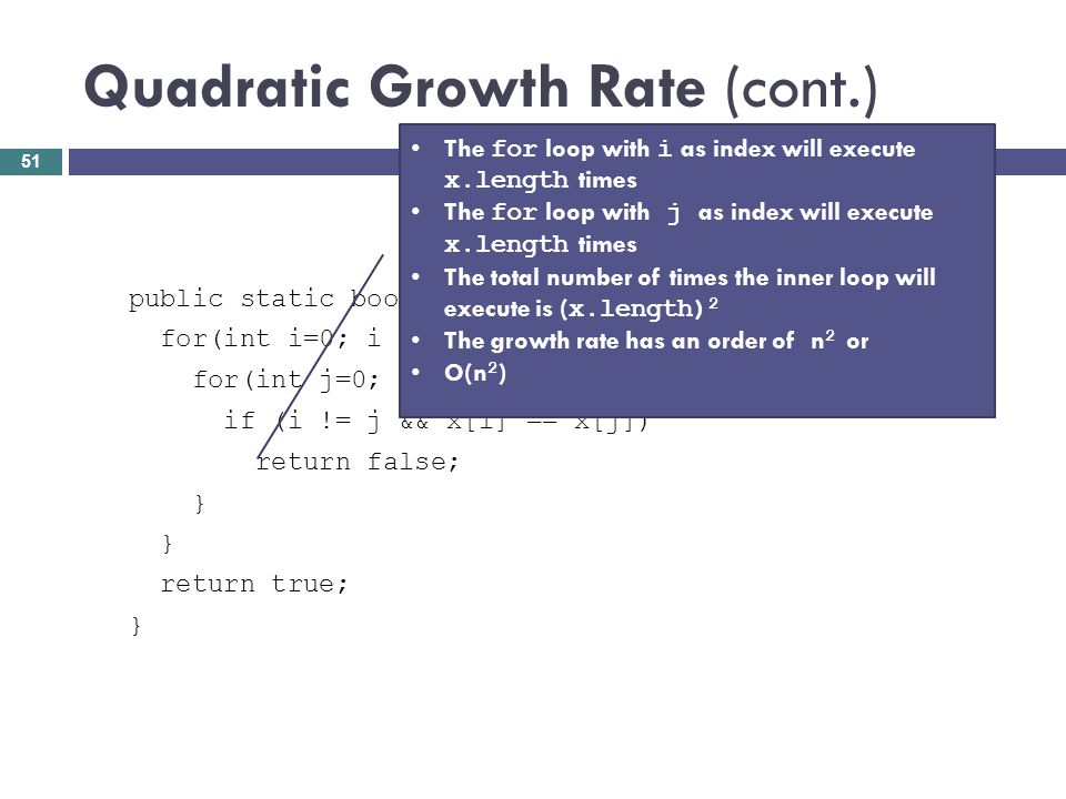 Quadratic Growth Rate (cont.)