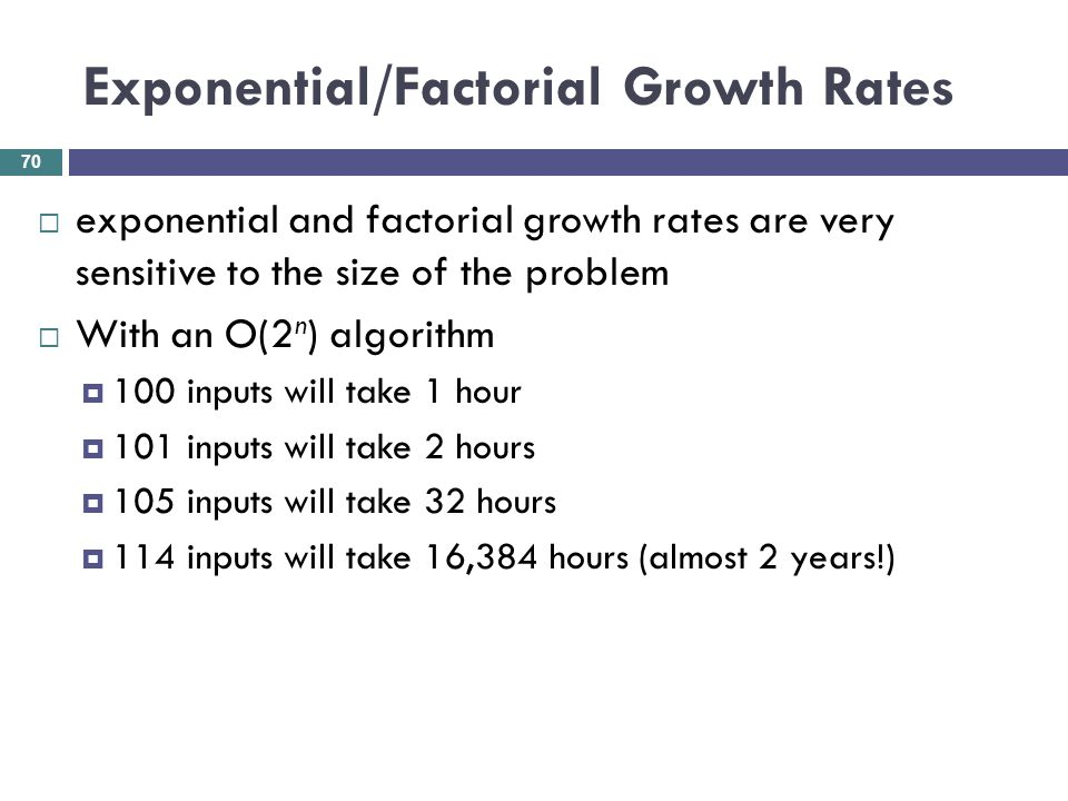 Exponential/Factorial Growth Rates