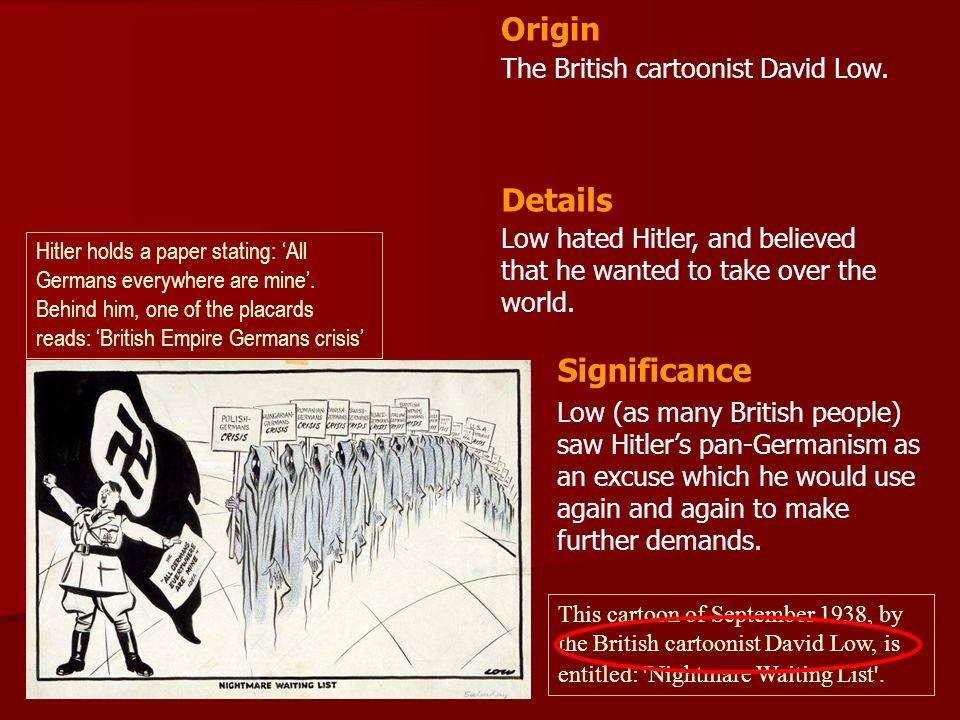 Origin Details Significance The British cartoonist David Low.