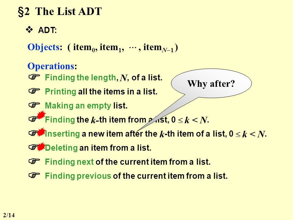  Finding the length, N, of a list.