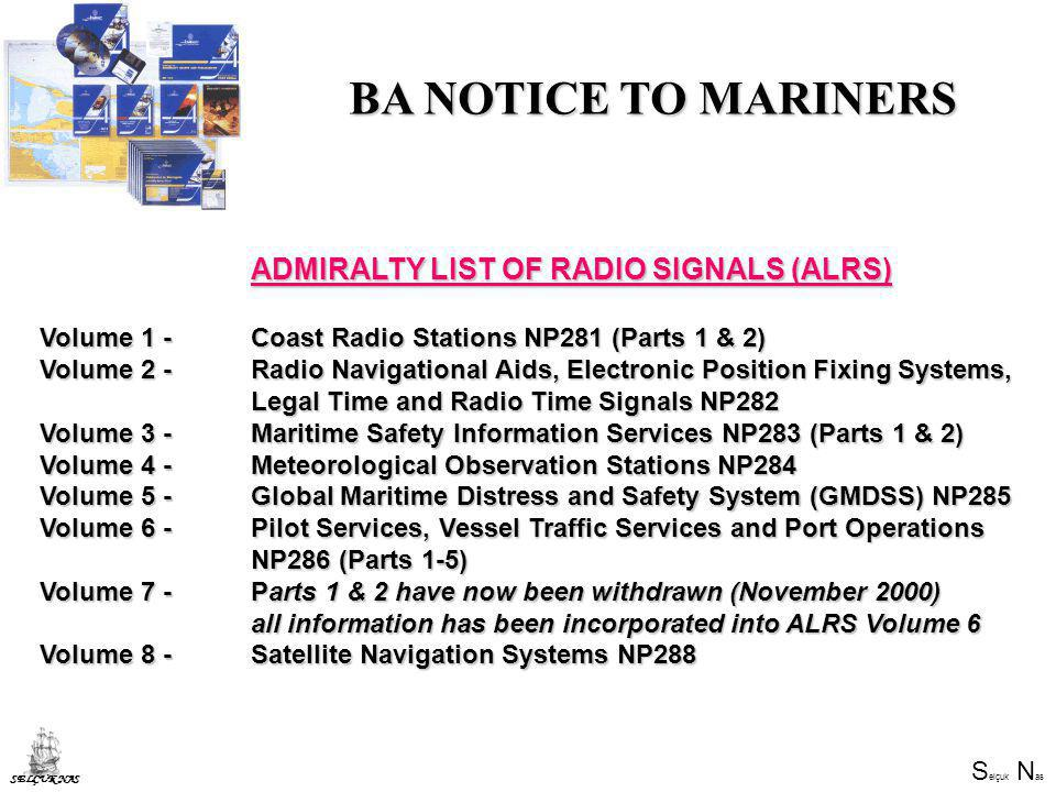 BA NOTICE TO MARINERS ADMIRALTY LIST OF RADIO SIGNALS (ALRS)