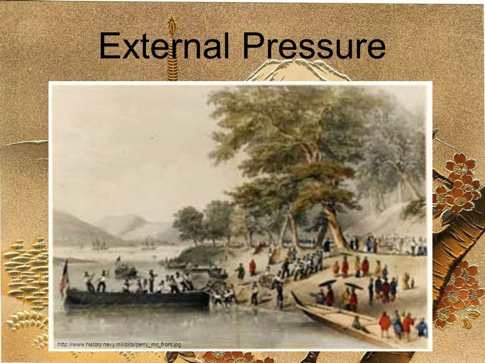 External Pressure http://www.history.navy.mil/pics/perry_mc_front.jpg