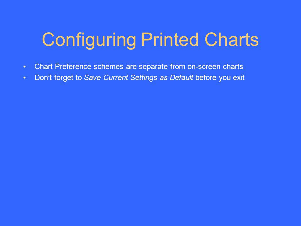 Configuring Printed Charts