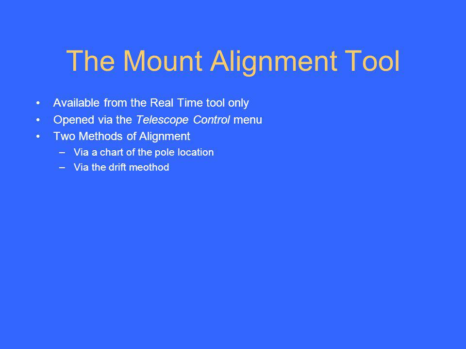 The Mount Alignment Tool