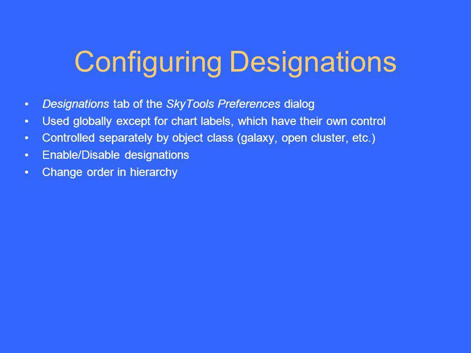 Configuring Designations