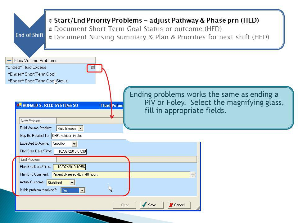 Start/End Priority Problems - adjust Pathway & Phase prn (HED)