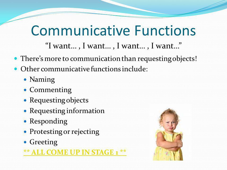 Communicative Functions