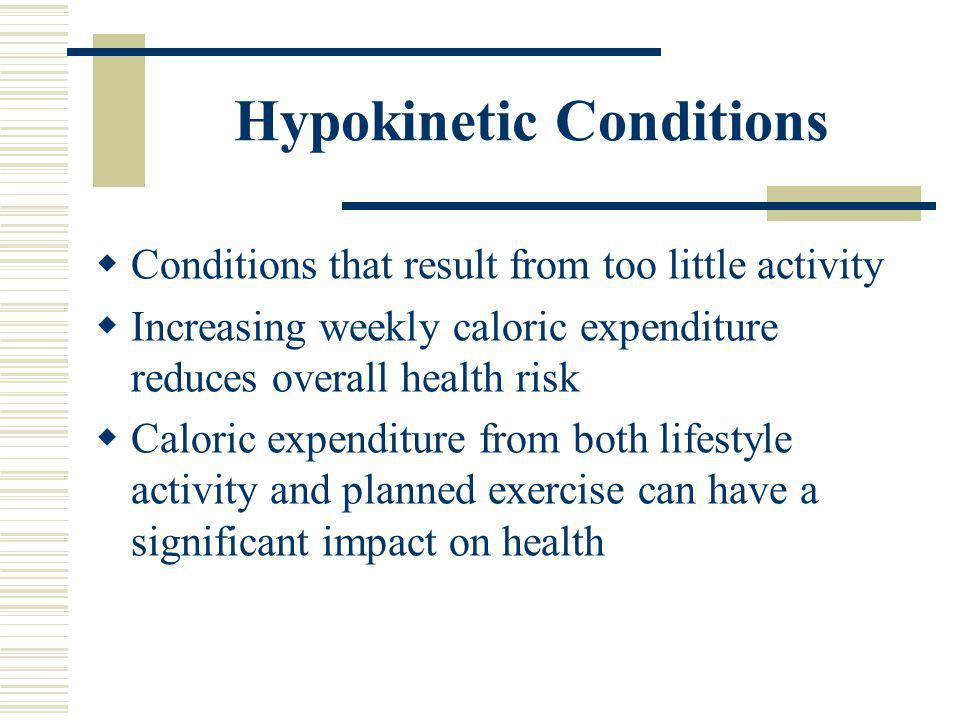 Hypokinetic Conditions