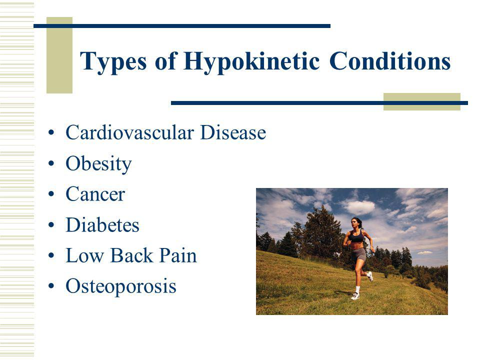Types of Hypokinetic Conditions