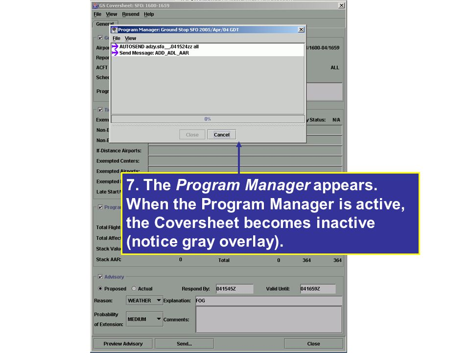 7. The Program Manager appears
