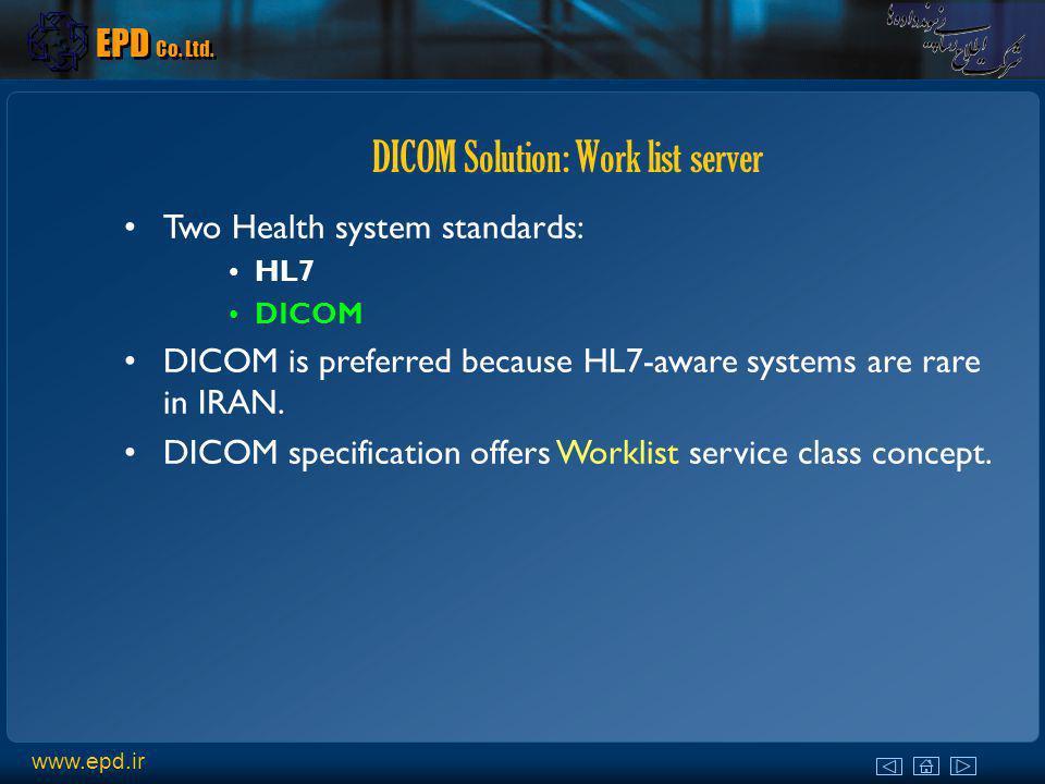DICOM Solution: Work list server