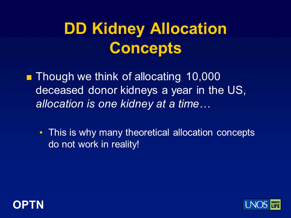 DD Kidney Allocation Concepts