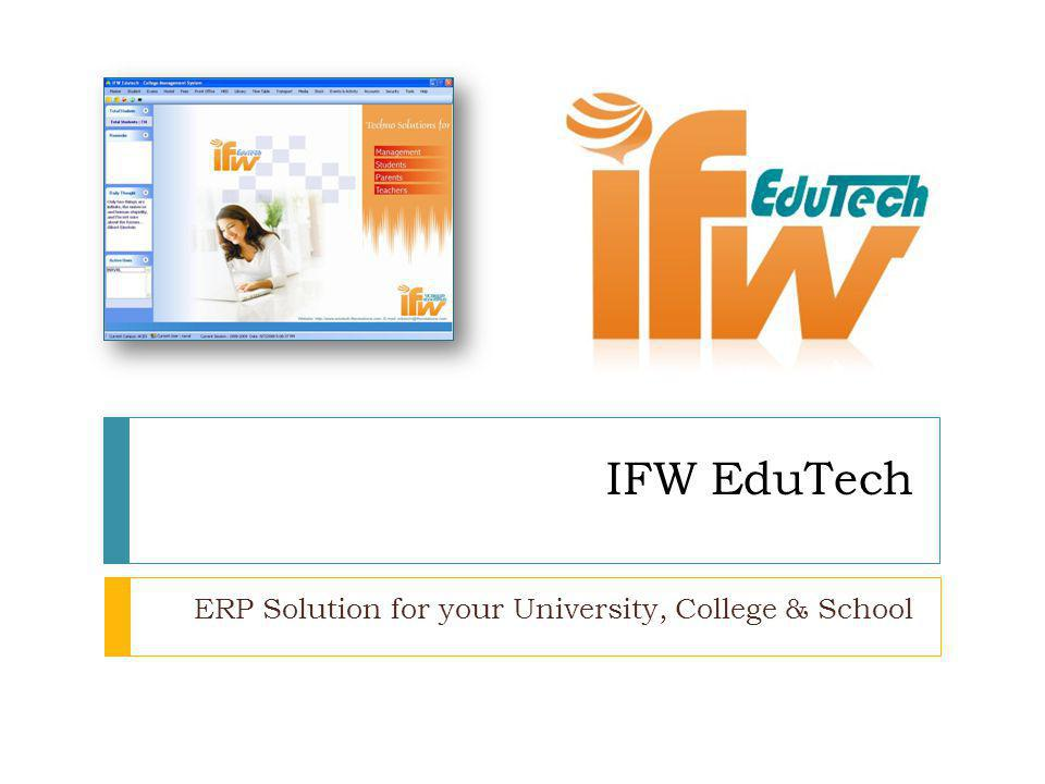 ERP Solution for your University, College & School