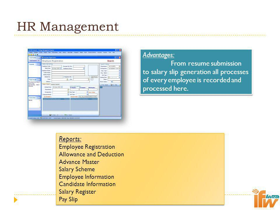 HR Management Advantages: