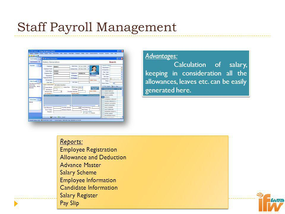 Staff Payroll Management