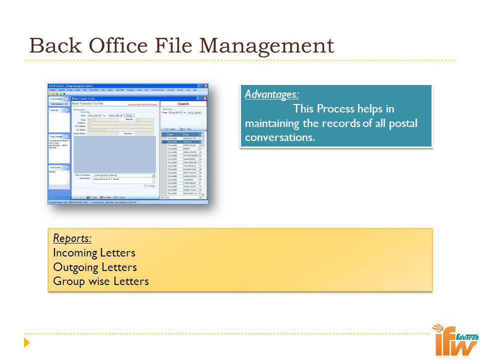 Back Office File Management