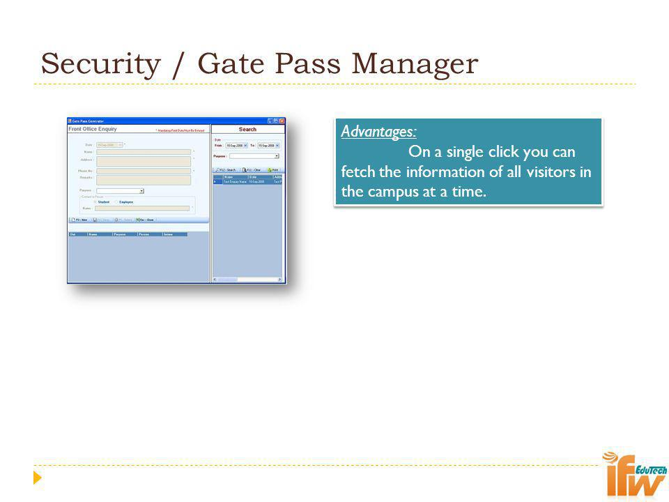 Security / Gate Pass Manager