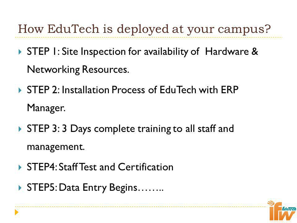 How EduTech is deployed at your campus