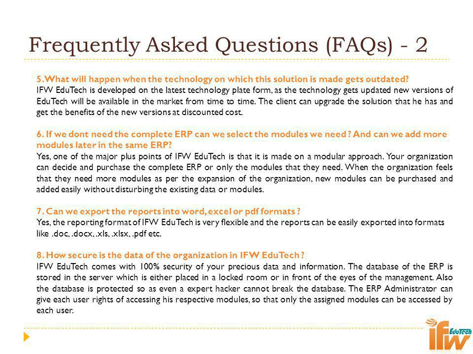 Frequently Asked Questions (FAQs) - 2