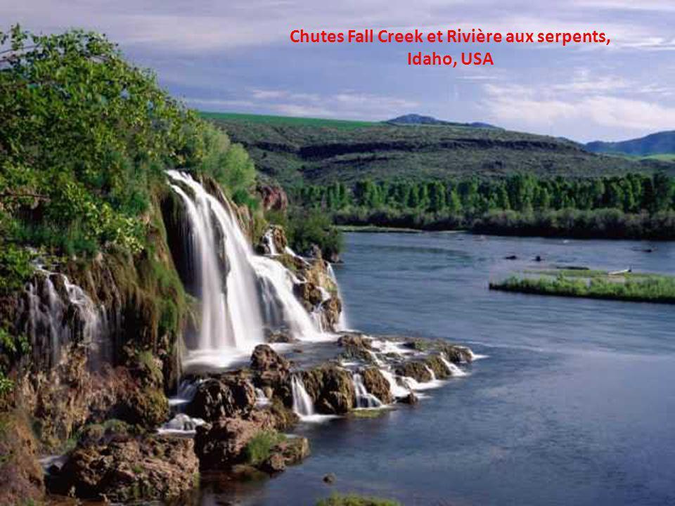 Chutes Fall Creek et Rivière aux serpents, Idaho, USA