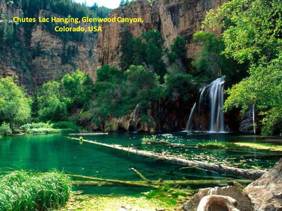Chutes Lac Hanging, Glenwood Canyon, Colorado, USA