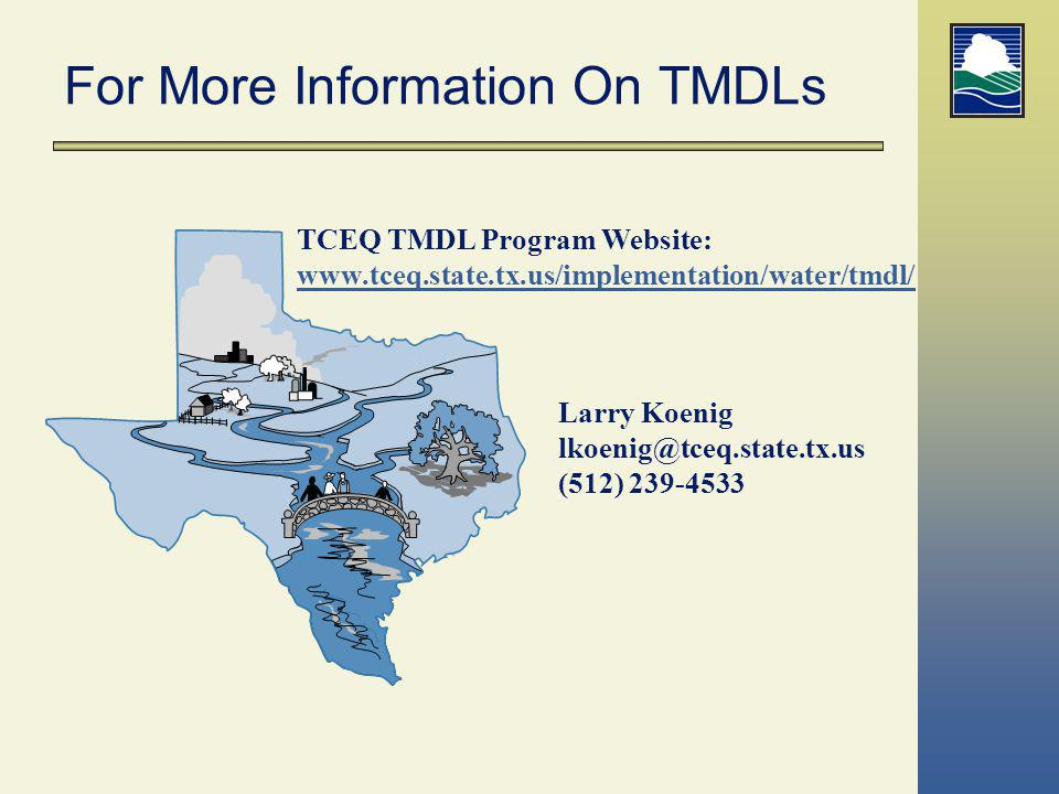 For More Information On TMDLs