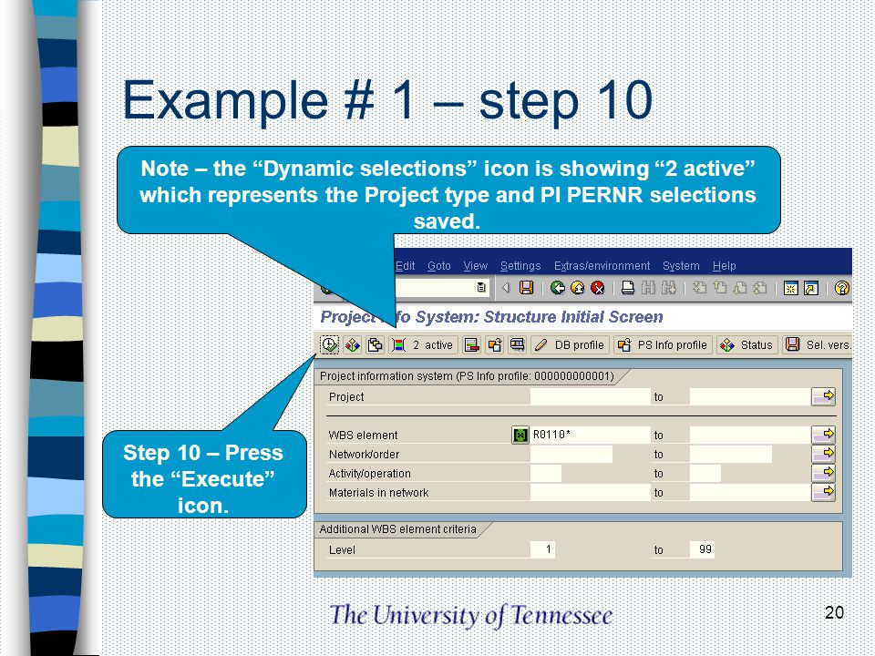 Step 10 – Press the Execute icon.