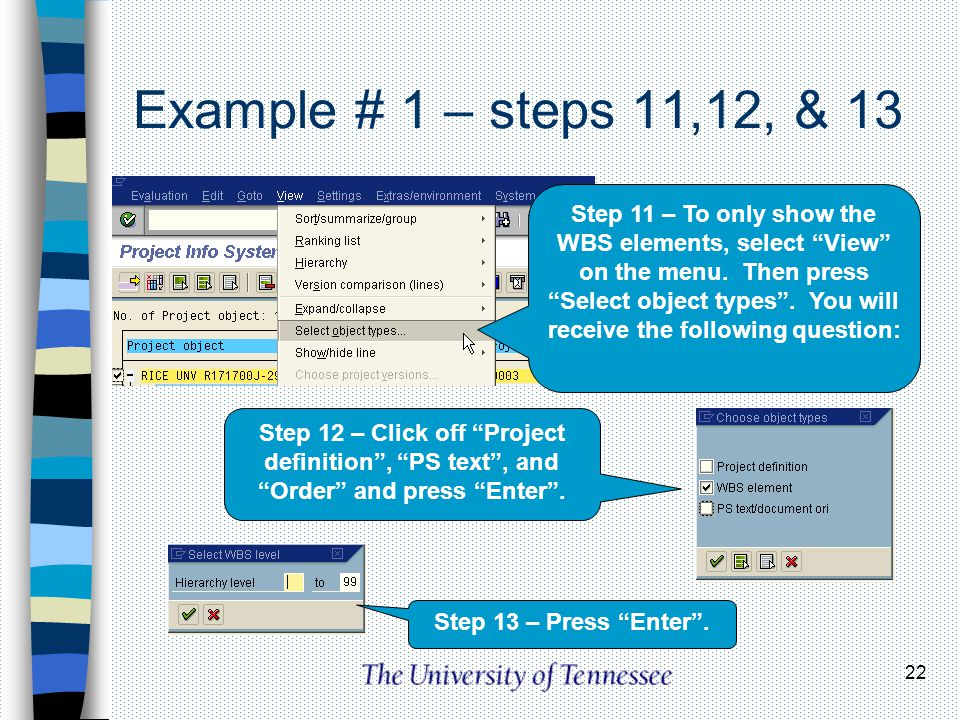 Example # 1 – steps 11,12, & 13