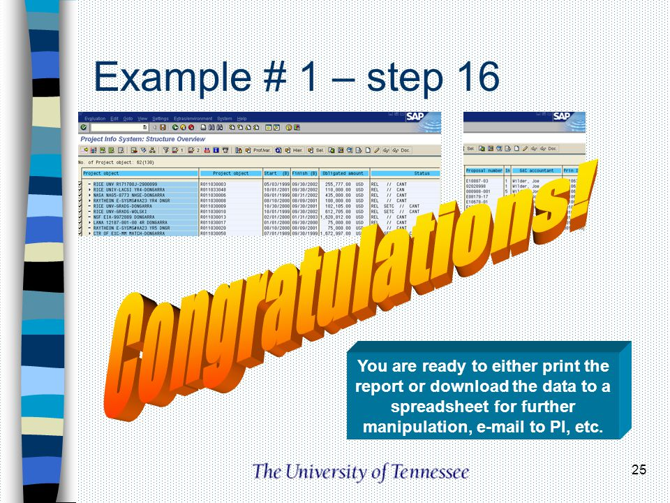 Example # 1 – step 16 Congratulations!