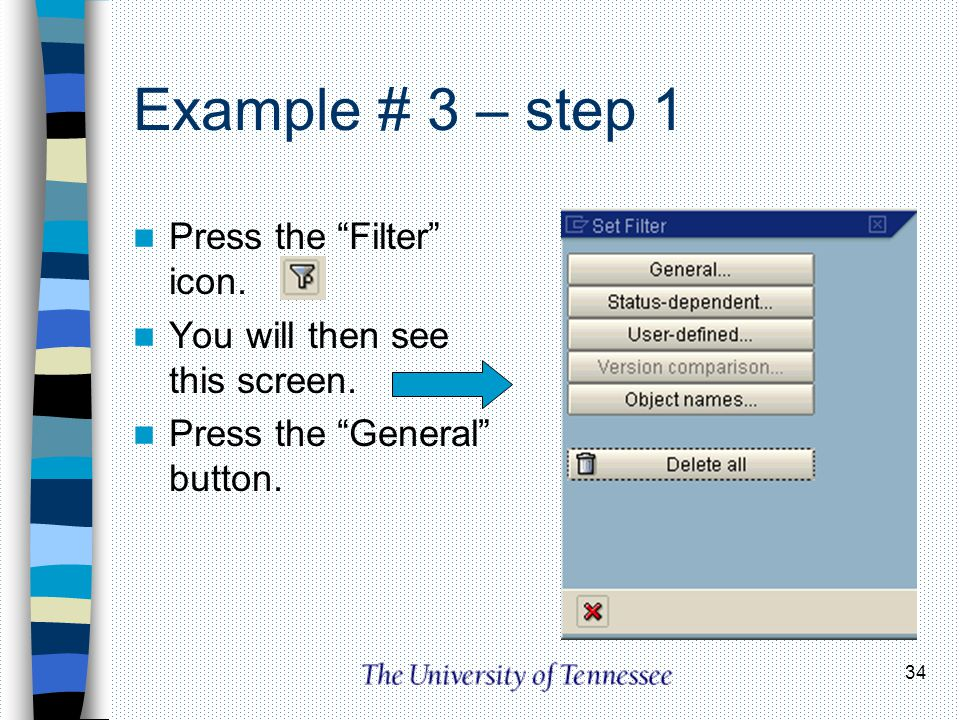 Example # 3 – step 1 Press the Filter icon.