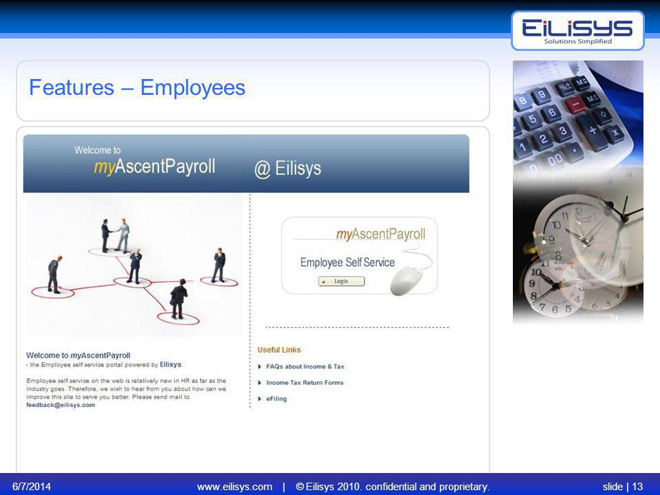 www.eilisys.com | © Eilisys 2010. confidential and proprietary.