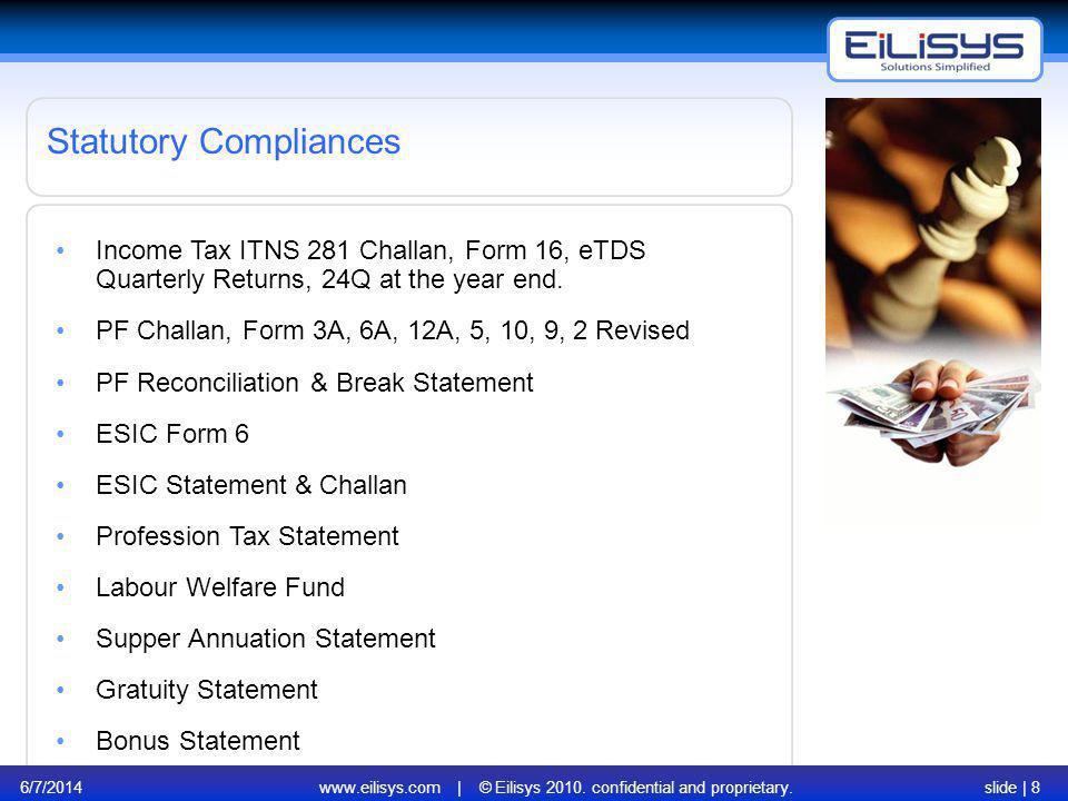 www.eilisys.com | © Eilisys 2010. confidential and proprietary.