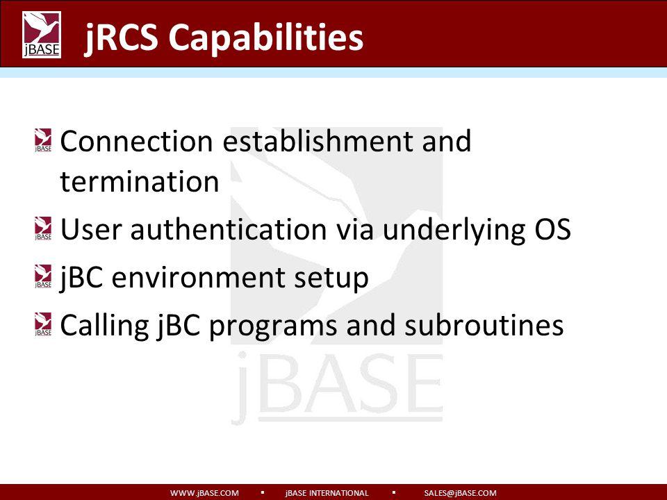 jRCS Capabilities Connection establishment and termination