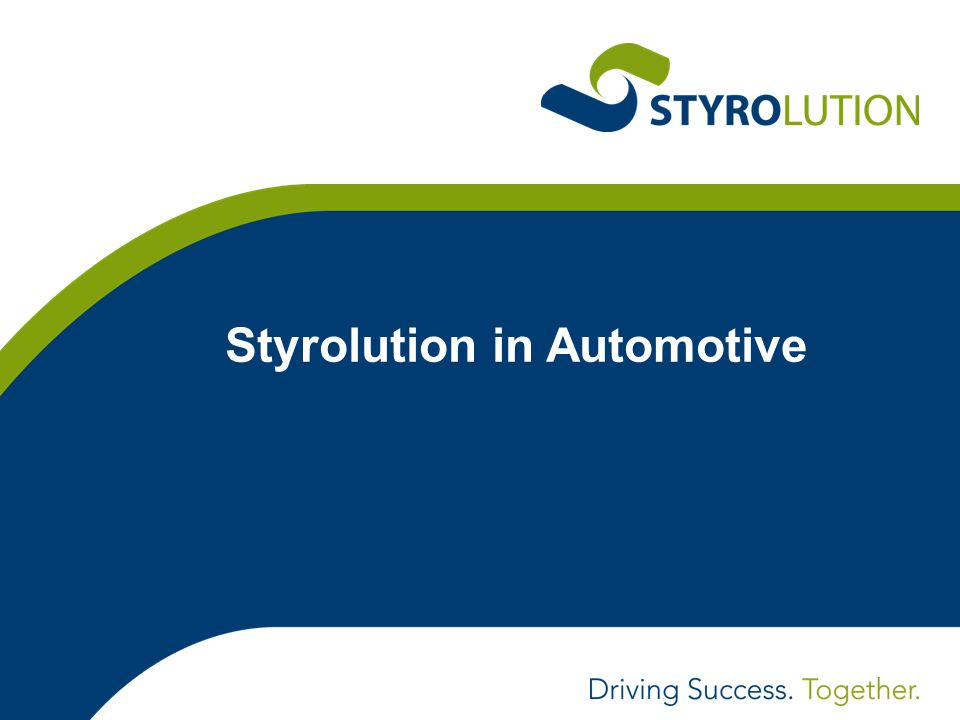 Styrolution in Automotive