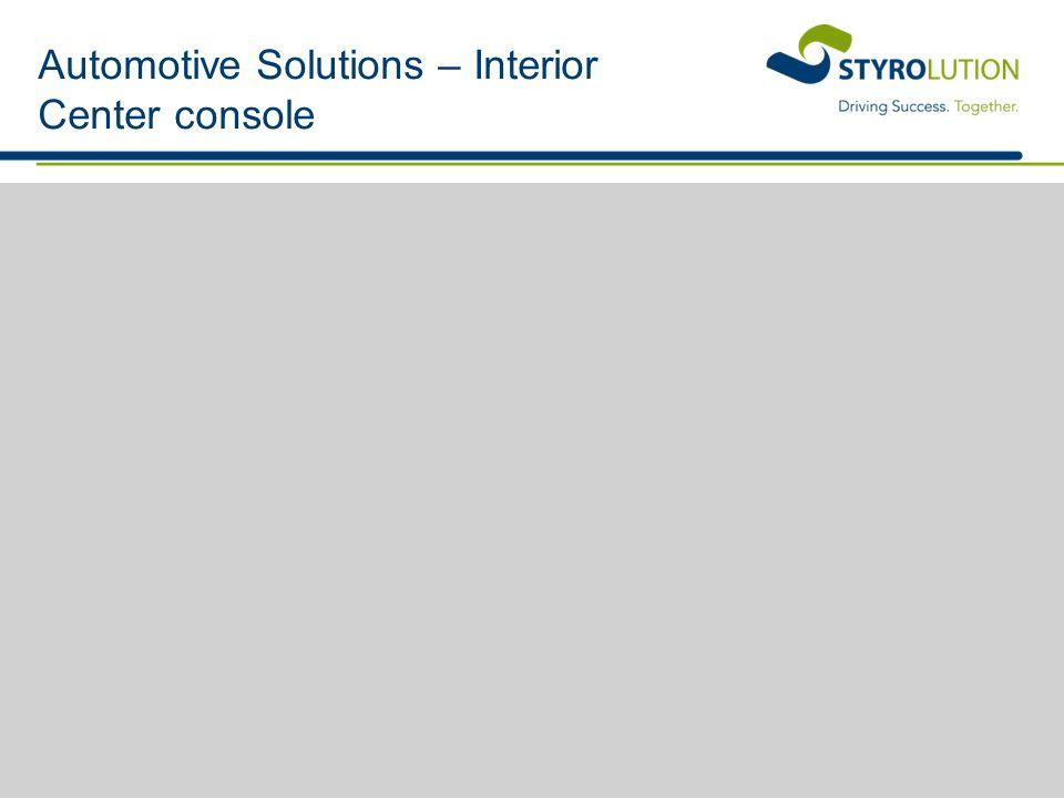 Automotive Solutions – Interior Center console