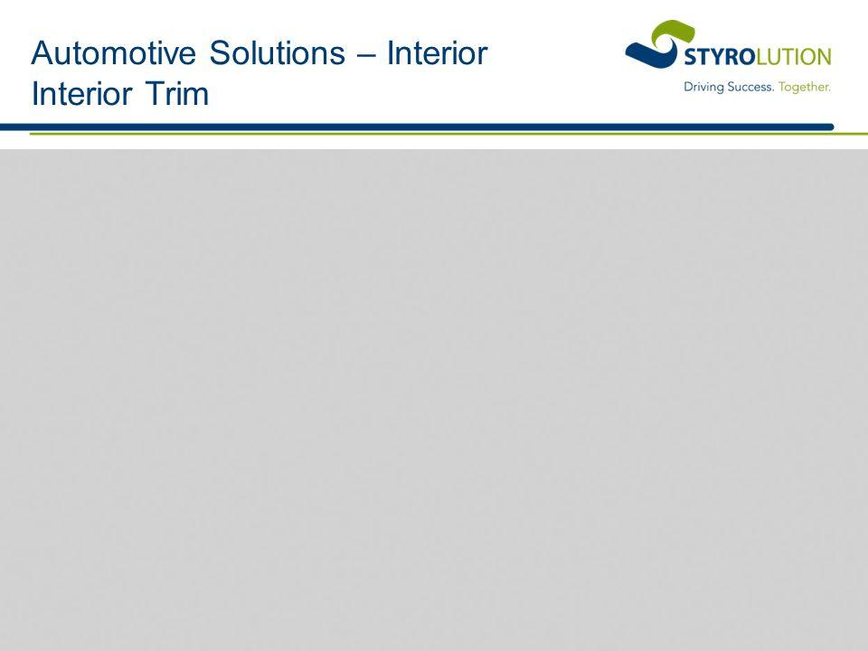 Automotive Solutions – Interior Interior Trim