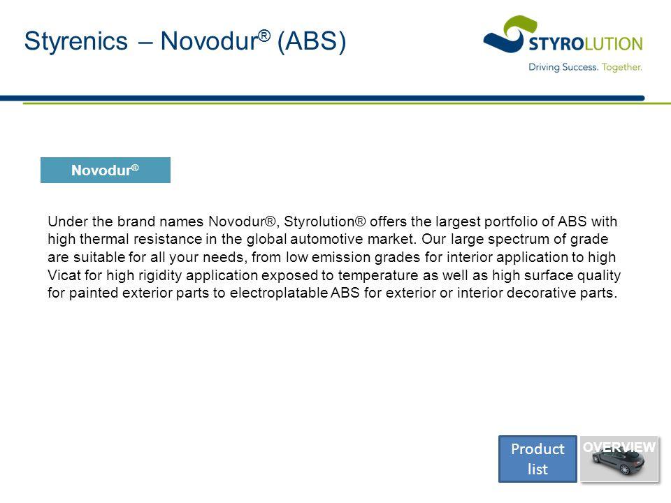 Styrenics – Novodur® (ABS)