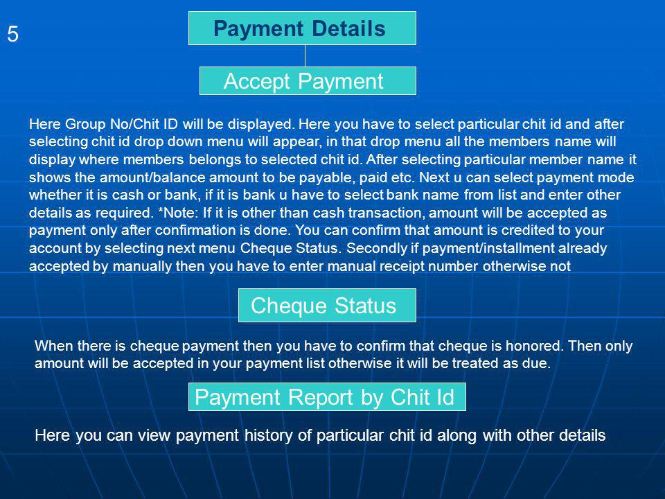 Payment Report by Chit Id