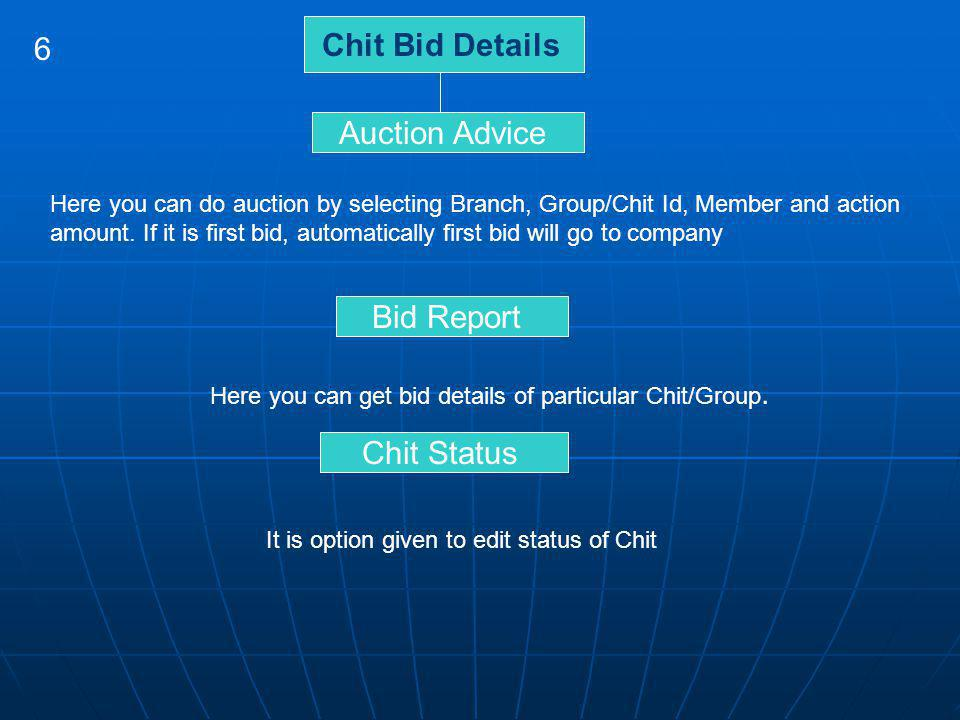 Chit Bid Details 6 Auction Advice Bid Report Chit Status