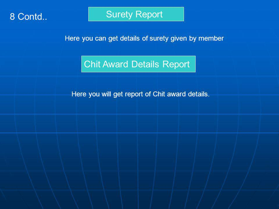Chit Award Details Report