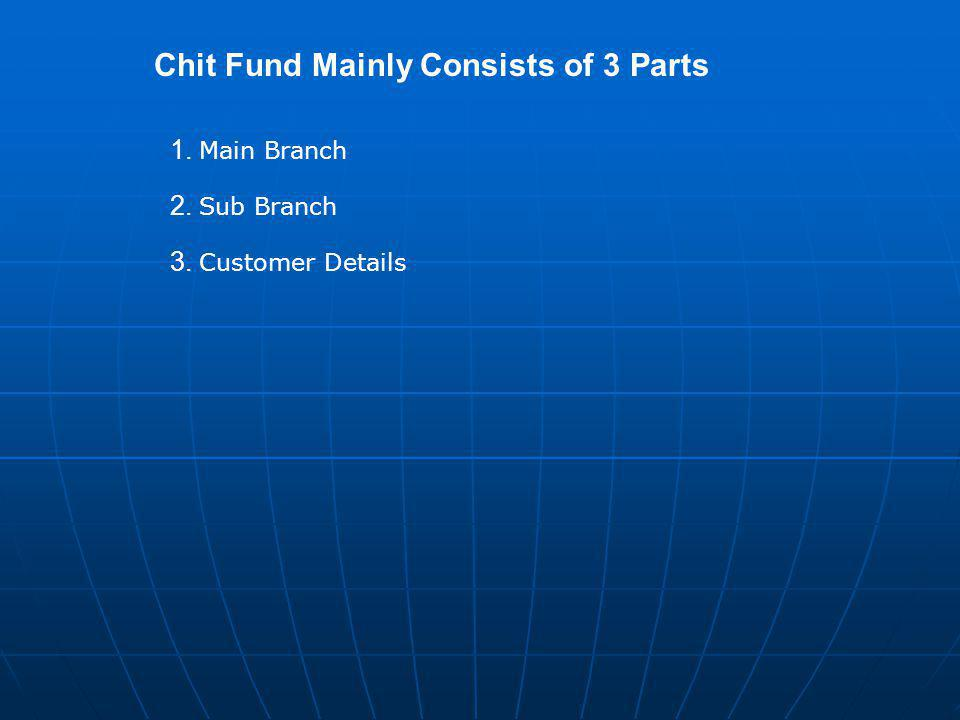 Chit Fund Mainly Consists of 3 Parts